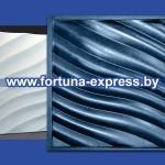 """Гибкая полиуретановая форма для изготовления 3D панелей """"Волна диагональная мелкая"""""""