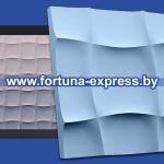 """Гибкая полиуретановая форма для изготовления 3D панелей """"Мягкий квадрат"""""""