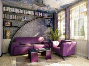 Декоративный камень, кирпич, кирпичная стена, модная стиль в дизайне