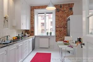 Красивый дизайн кухни-гостиной