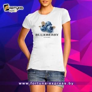 Майка прикольная Fashion Smile - Blueberry
