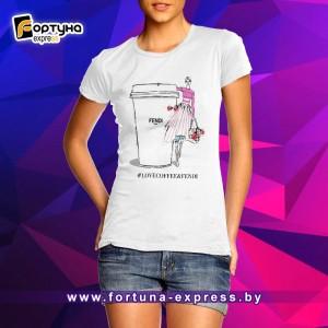 Майка прикольная Fashion Smile - #LOVECOFFEE&FENDI