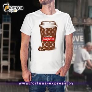Майка прикольная Fashion Smile - Coffee Surprise